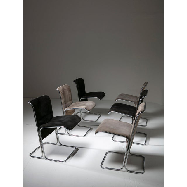 """Set of 6 """"Calla"""" Chairs by Antonio Ari Colombo for Arflex For Sale - Image 6 of 6"""