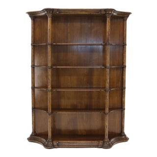 Large Oversize Figural Country French Style Open Bookcase with Spindles For Sale