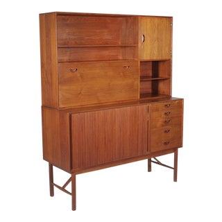1960s Danish Modern Peter Hvidt & Orla Malgaard-Nielson for John Stuart Two Part Credenza For Sale