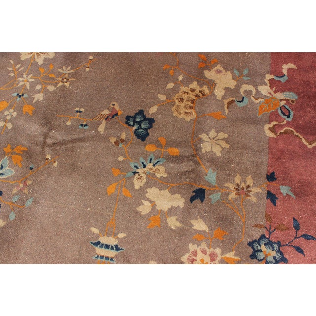 1920s Vintage Chinese Art Deco Rug - 9′ × 11′8″ For Sale In Atlanta - Image 6 of 11