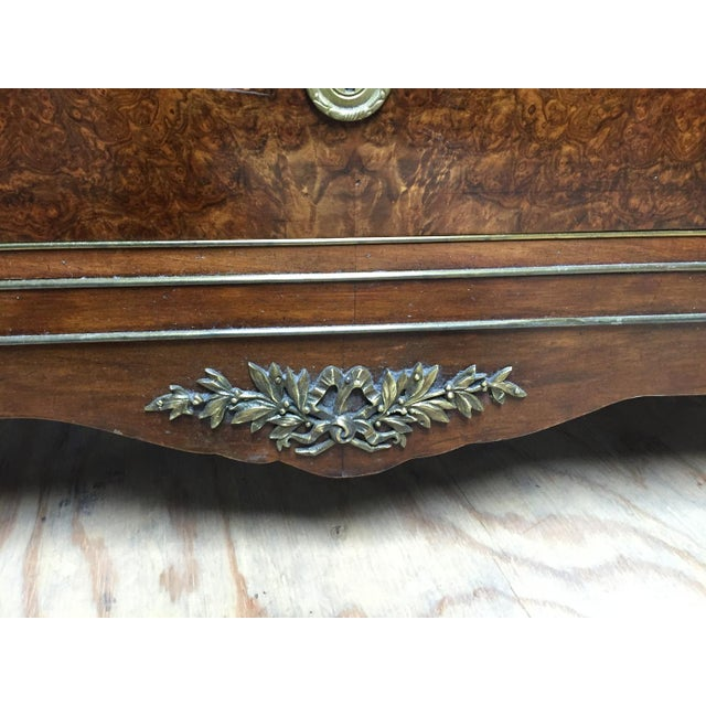 Empire Style Mahogany & Burl Commode For Sale In Nashville - Image 6 of 7