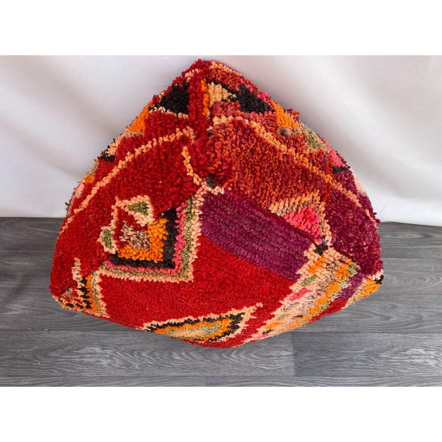 1980s 1980s Vintage Moroccan Pouf Cover For Sale - Image 5 of 10