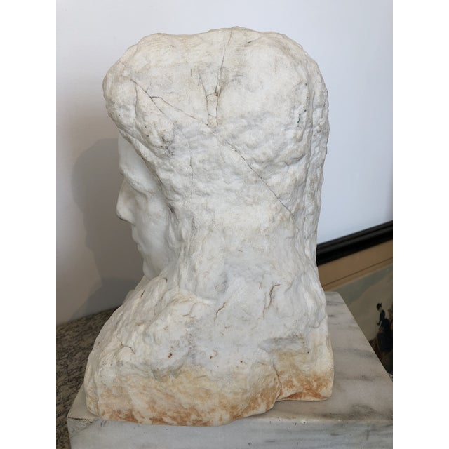 Realism Realism Alabaster Marble Bust For Sale - Image 3 of 6
