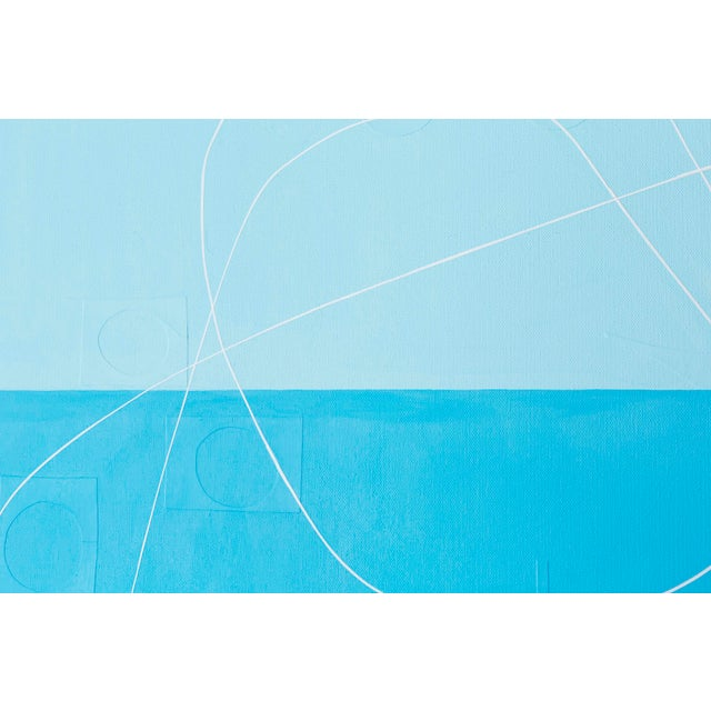 """Abstract Maura Segal, """"Summer Sky"""" For Sale - Image 3 of 8"""