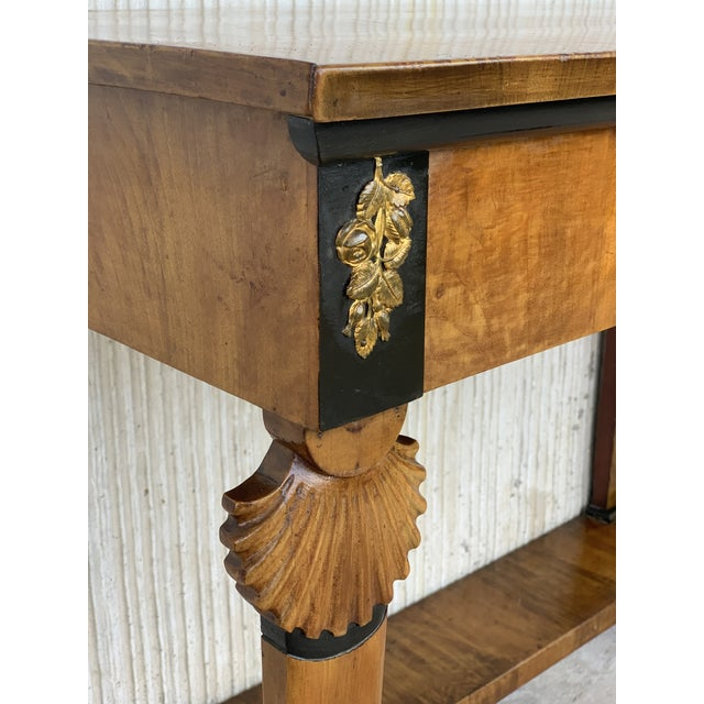 Antique French Empire Fruitwood Console Table With Drawer, Early 19th Century For Sale - Image 9 of 10