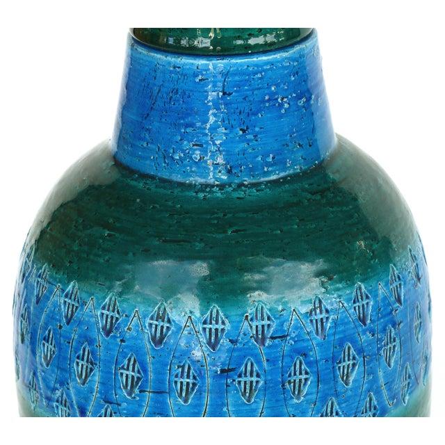 """Bitossi 1960s Bitossi Ceramiche Aldo Londi """"Rimini Blu"""" Ceramic Table Lamps, Italy For Sale - Image 4 of 11"""
