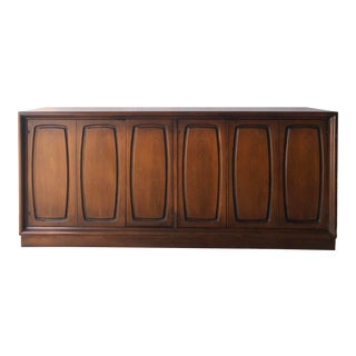 Vintage Mid Century Modern Sideboard Credenza by Broyhill Emphasis Collection For Sale