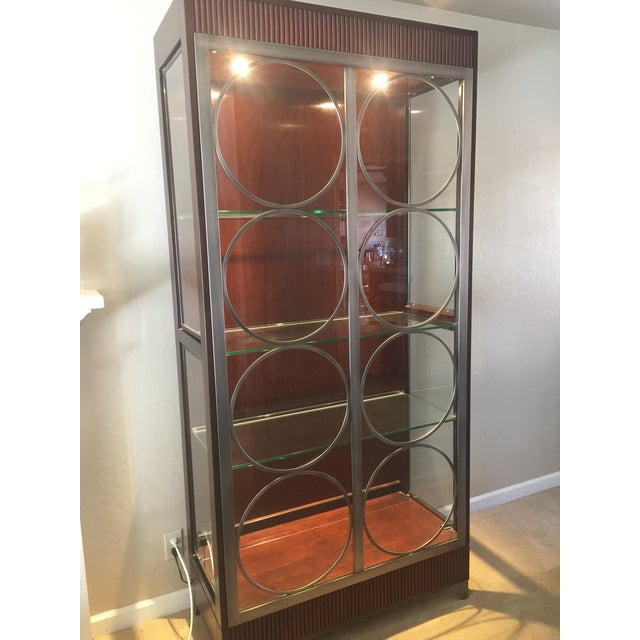 Ethan Allen Ethan Allen Modern Art Deco Display Cabinet For Sale - Image 4 of 5