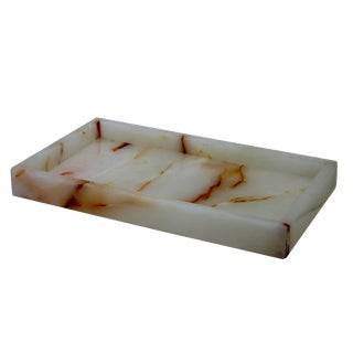 White Marble Amenity Tray For Sale