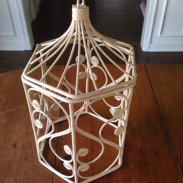 Vintage Rattan Wicker Birdcage - Image 6 of 11