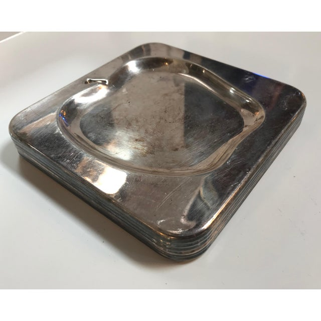 Modern 1970s Vintage Italian Chrome Square Cocktail Plates - Set of 6 For Sale - Image 3 of 8