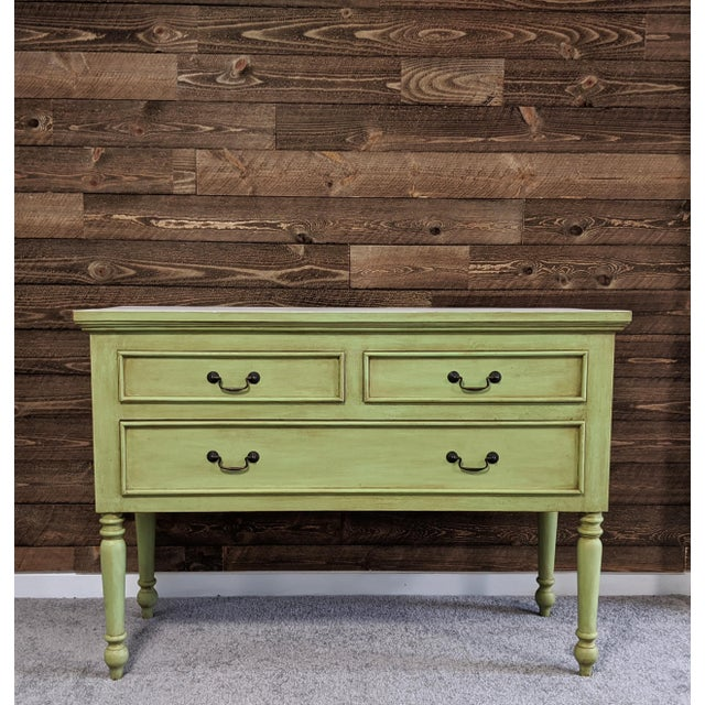 1950s 1950s Mid Century Green Chest With Drawers For Sale - Image 5 of 13