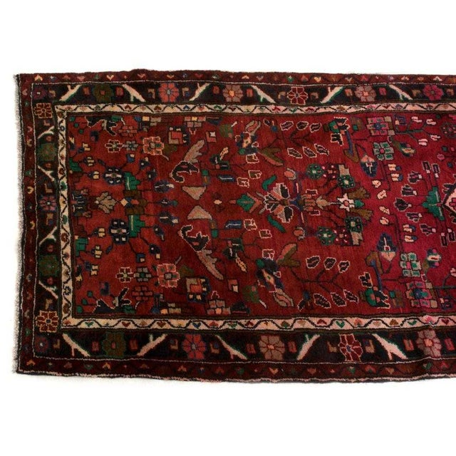 """Islamic Hand-Tied Persian Saruq Wool Runner Rug - 3′6″ × 10' 7"""" For Sale - Image 3 of 12"""