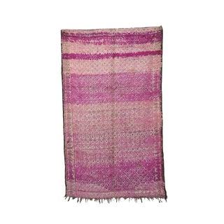 """1970's Vintage Beni M'Guild Moroccan Pink Rug- 5'10"""" X 9'7"""" For Sale"""