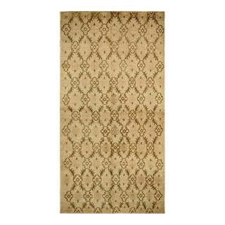 Antique Hand Knotted Floral Sparta Rug - 4′10″ × 9′3″ For Sale