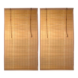 Pair of Sudare Split Bamboo Blinds For Sale