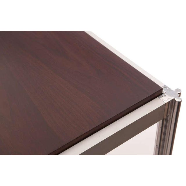 Jens Risom Rare Walnut and Aluminum Dining Table by Jens Risom For Sale - Image 4 of 5
