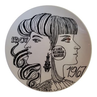 1967 Fornasetti Plate for Neiman Marcus For Sale