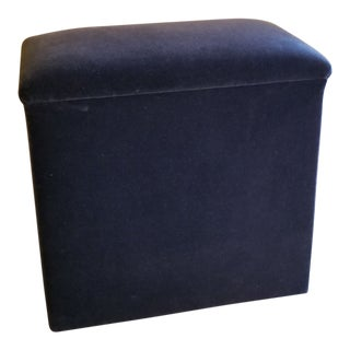 Last Call. Charcoal Gray Mohair Bench For Sale