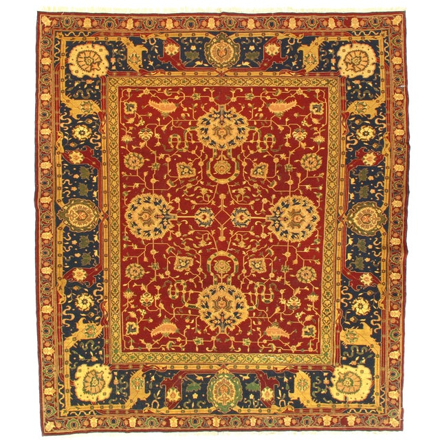 "Traditional Pasargad N Y Sumak Sultanabad Design Hand-Knotted Rug - 7'9"" X 8'11"" For Sale"