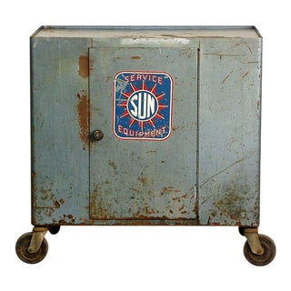 1940s Industrial Bar Cart on Wheels For Sale