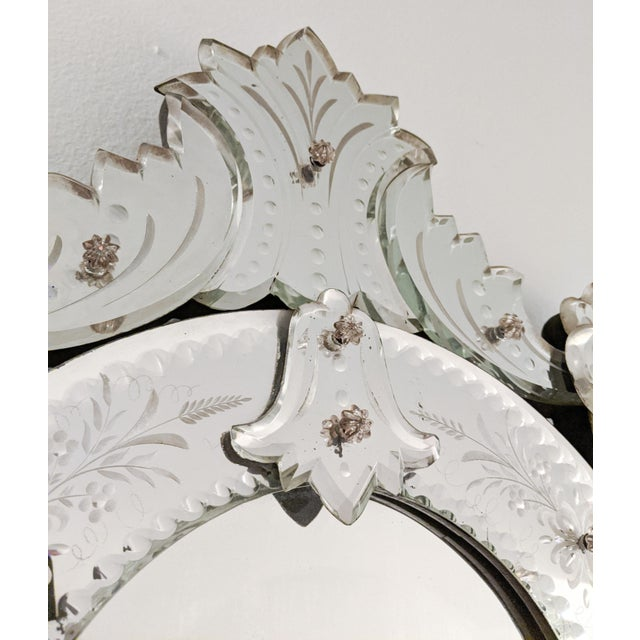 Early 20th Century Vintage Etched Venetian Mirror For Sale - Image 11 of 13