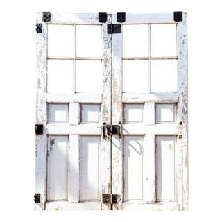 Vintage Farmhouse Style Barn Doors-a Pair For Sale