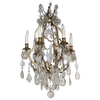 Late 19th Century Gilded Brass Six-light Chandelier