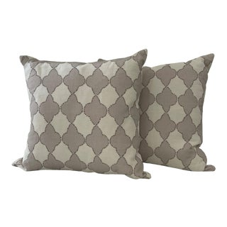 Puddy Medallion Pillows- a Pair For Sale