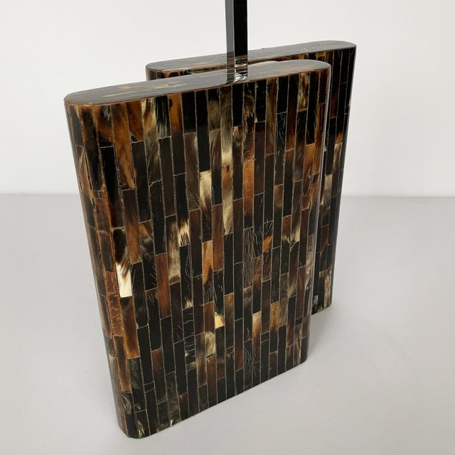 Enrique Garcel Tessellated Horn Table Lamp For Sale - Image 10 of 13