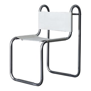 1940's chrome and leather desk chair by Peter Behrens_SALE PRICE $1550