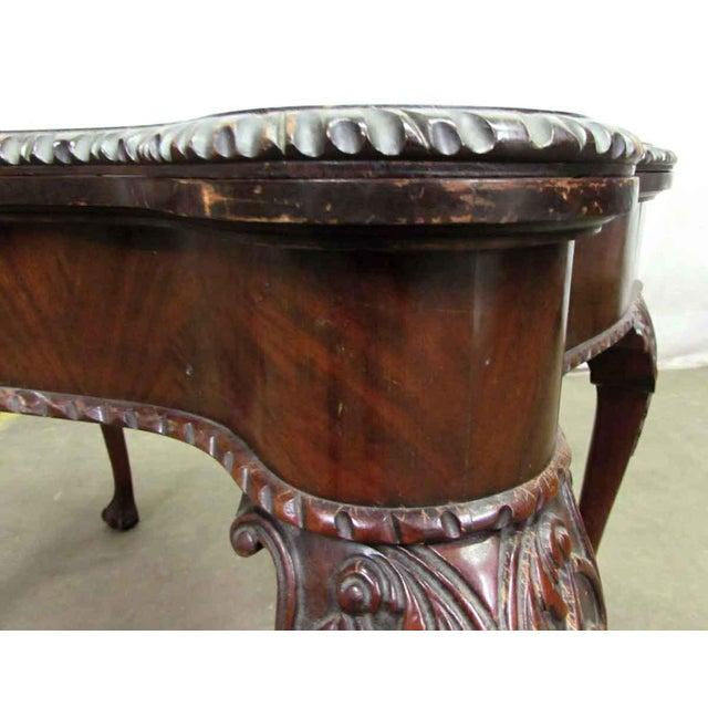 Leather Top Console Table For Sale - Image 10 of 10