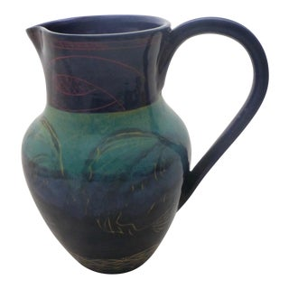Contemporary Chinoiserie Styled Water Pitcher