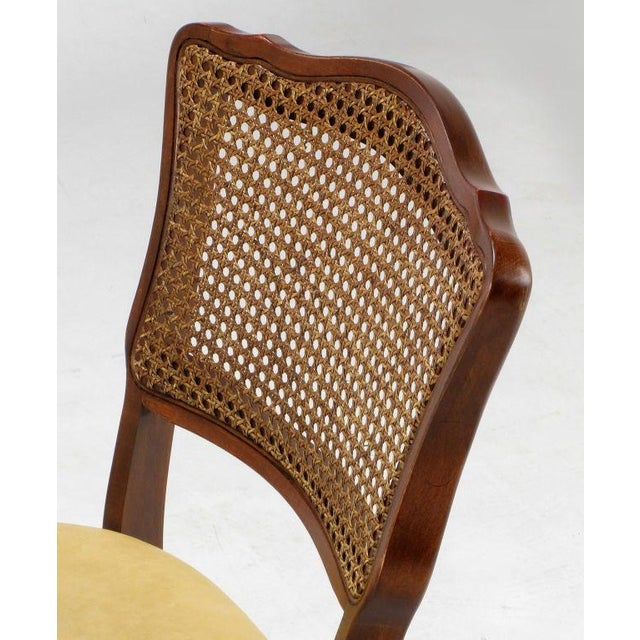 Set of Four Mahogany, Cane & Leather Regency Folding Chairs For Sale - Image 9 of 11
