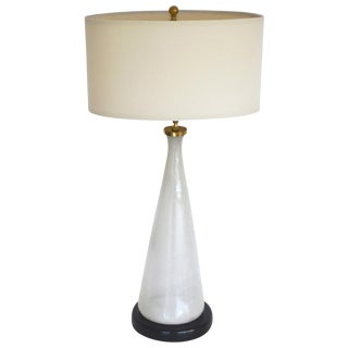 Midcentury Italian Blown Glass Table Lamp For Sale