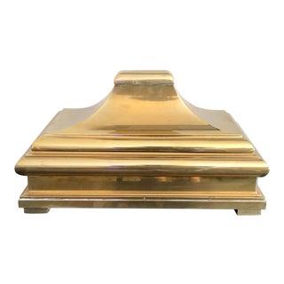 1978 Chapman Brass Pagoda Box For Sale