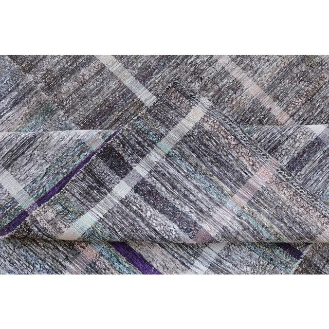 """Vintage Turkish Handmade Flatweave Rug - 6'5"""" X 8' - Image 4 of 5"""