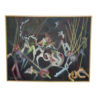 Large Framed Oil Painting by Hank Virgilio For Sale