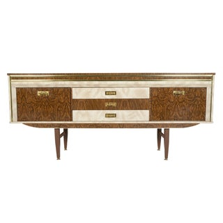 Swedish Modern Formica Credenza With Bar For Sale