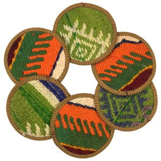 Kilim Coasters Set of 6 | Kalcılar For Sale