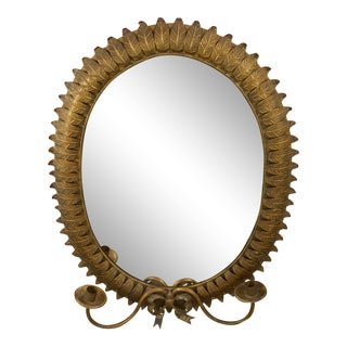 Early 20th Century Spanish Baroque Style Mirror Sconce For Sale