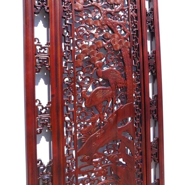 Chinese Wooden Rectangular Wall Screen - Image 5 of 6