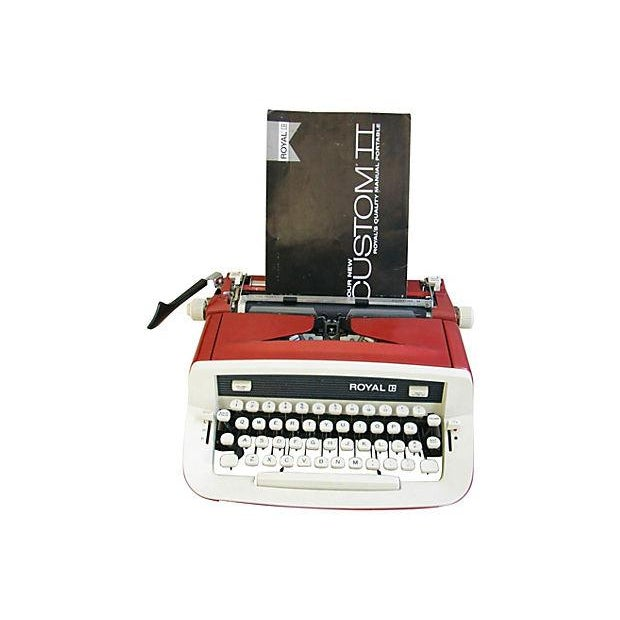 Vintage 1970s Royal Custom II Typewriter & Case - Image 3 of 7