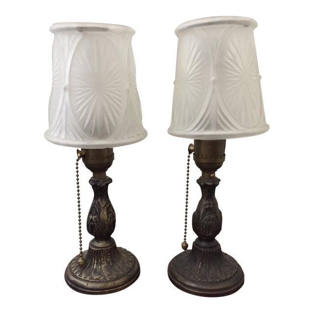 Restored Petite Antique Table Lamps - a Pair - Image 1 of 5