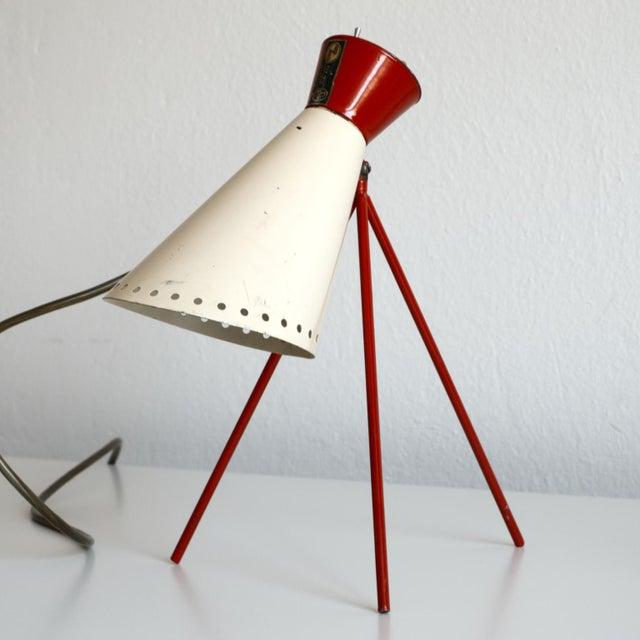 Mid-Century Modern 1950s Mid-Century Model 1618 Desk Lamp by Josef Hurka for Napako, Czechoslovakia For Sale - Image 3 of 13