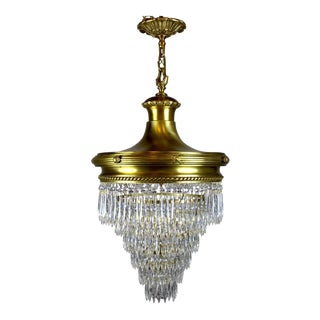 Antique designer early american chandeliers decaso wedding cake chandelier by r williamson mozeypictures Image collections