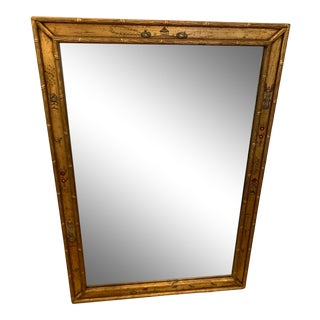 Giltwood Chinoserie Style Faux Bamboo Mirror For Sale