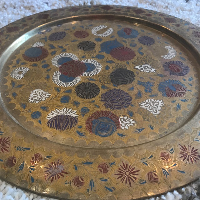 Vintage Indian Gold Plate For Sale - Image 10 of 10