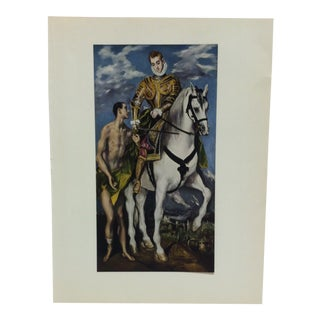 "Mounted Color Print, ""St. Martin and the Beggar"" by El Greco, 1953 For Sale"