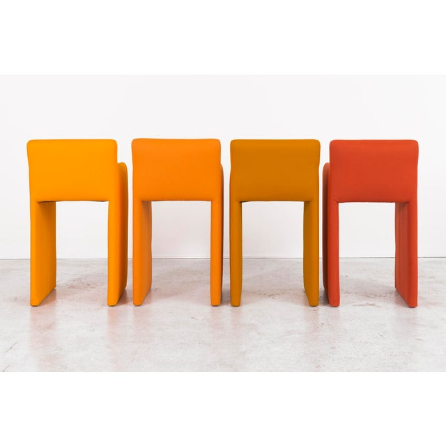 Milo Baughman Gradient Stool Chairs - Set of 4 - Image 3 of 9